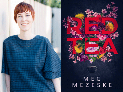 Meg Mezeske author photo and Red Tea cover image