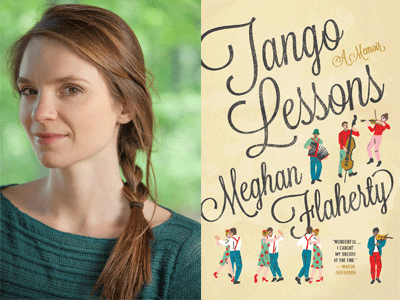 Meghan Flaherty author photo and Tango Lessons cover image