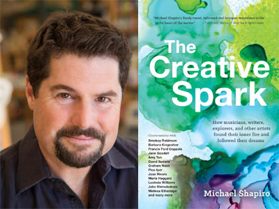 Michael Shapiro author photo and The Creative Spark cover image