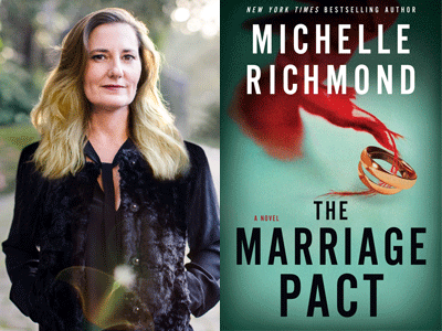 Michelle Richmond author photo and The Marriage Pact cover image