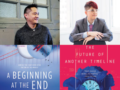 author and cropped cover images for Mike Chen and Annalee Newitz