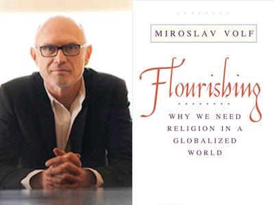 Miroslav Volf author photo and Flourishing cover image