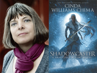 Cinda Williams China author photo and Shadowcaster cover image