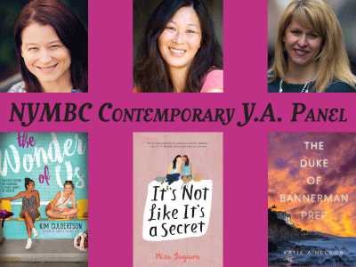 Author photos and cover images for Kim Culbertson, Misa Sugiura, and Katie A. Nelson