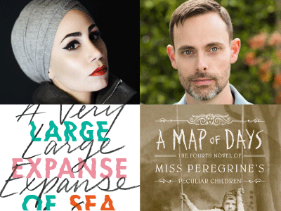 author and cropped cover images for Tahereh Mafi and Ransom Riggs