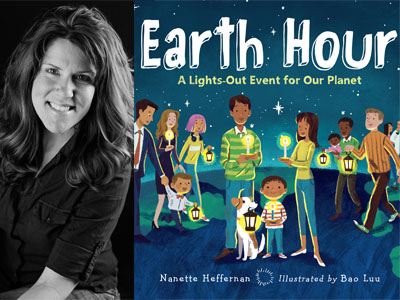 Nanette Heffernan author photo and Earth Hour cover image