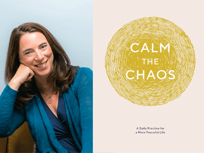 Nicola Taggart author photo and Calm the Chaos cover image