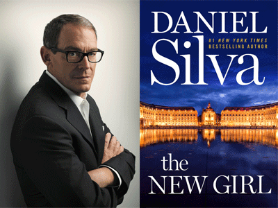 Daniel Silva author photo and The New Girl cover image