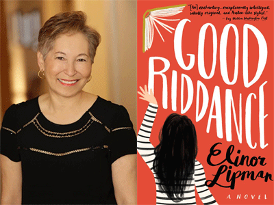 Elinor Lipman author photo and Good Riddance cover image