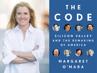 Margaret O'Mara author photo and The Code cover image
