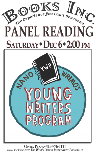Young Writers Program on Saturday December 6th!