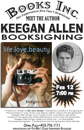 Booksigning with pretty little liars star keegan allen at books inc booksigning with pretty little liars star keegan allen at books inc opera plaza m4hsunfo