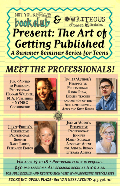 Meet the Professionals for The Art of Getting Published for Teens