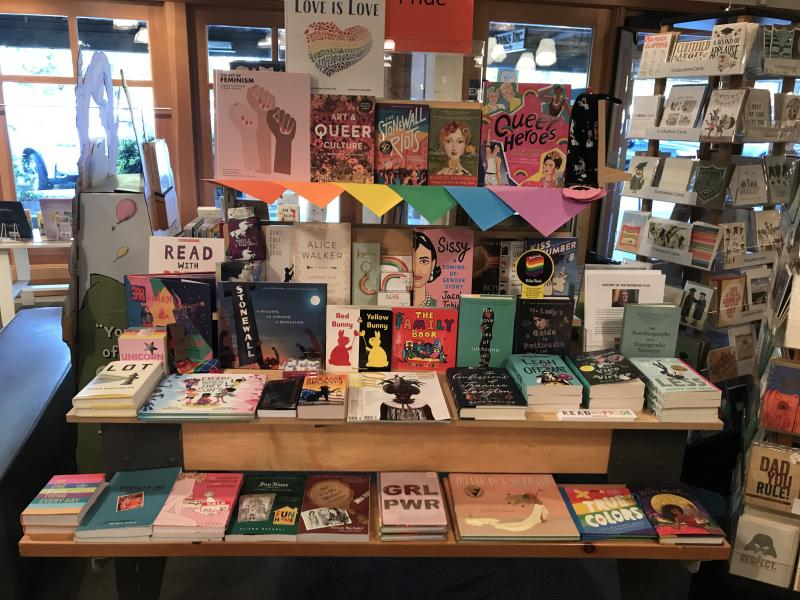 Books Inc. Palo Alto's Pride Display
