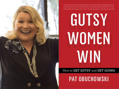 Pat Obuchowski author photo and Gutsy Women Win cover image