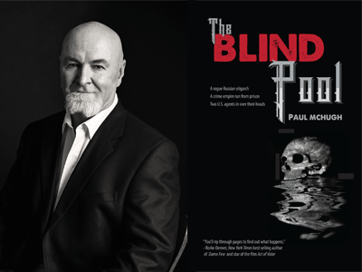 Paul McHugh author photo and The Blind Pool cover image