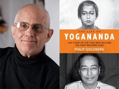 Philip Goldberg author photo and The Life of Yogananda cover image