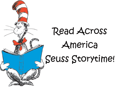Cat in the Hat reading and Read Across America Seuss Storytime