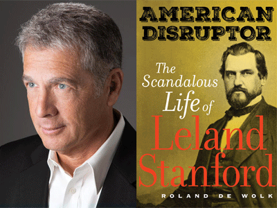 Roland De Wolk author photo and American Disruptor cover image