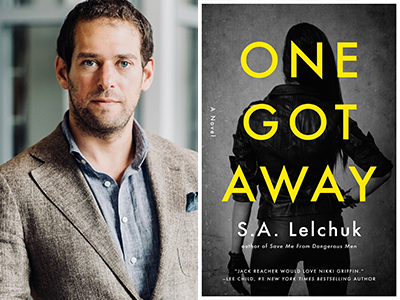 S.A. Lelchuk author photo and One Got Away cover image