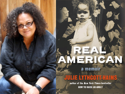 Julie Lythcott-Haims author photo and Real American cover image