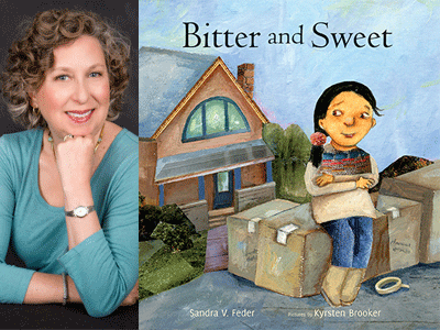 Sandra Feder author photo and Bitter and Sweet cover image