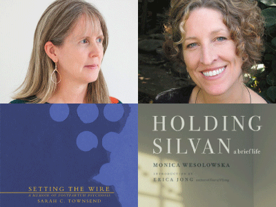 Sarah Townsend and Monica Wesolowska author photos and cropped book cover images