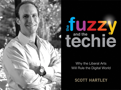 Scott Hartley author photo and the fuzzy and the techie cover image