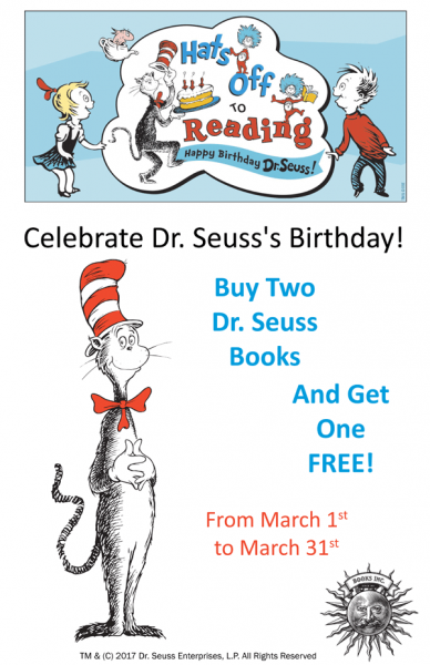 Buy 2 Seuss Books Get 1 Free poster image