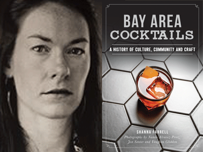 Shanna Farrell author photo and Bay Area Cocktails cover image