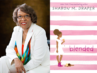 Sharon Draper author photo and Blended cover image