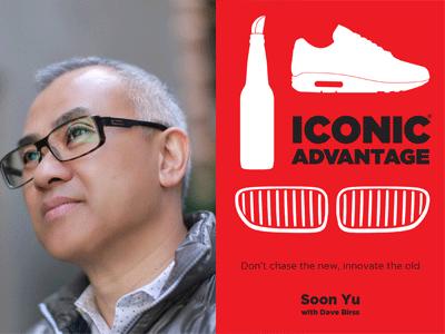 Soon Yu author photo and Iconic Advantage cover image