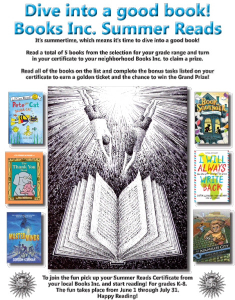 Books Inc. Summer Reading Poster