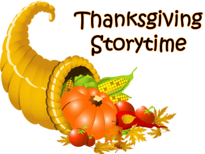 Cornucopia image and Thanksgiving Storytime