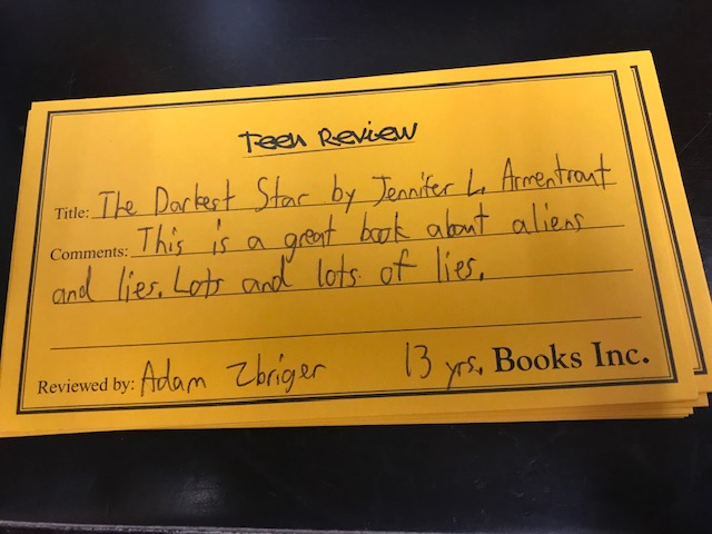 Teen Review of The Darkest Star