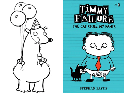 Total the Bear illustration and Timmy Failure: The Cat Stole My Pants cover image