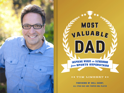 Tom Limbert author photo and Most Valuable Dad cover image