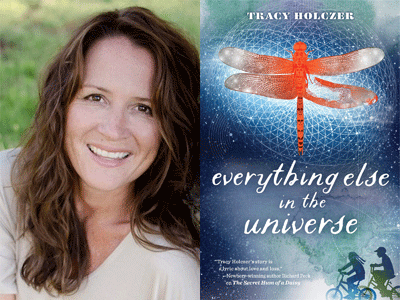 Tracy Holczer author photo and Everything Else in the Universe cover image
