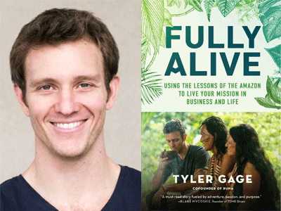 Tyler Gage author photo Fully Alive cover image