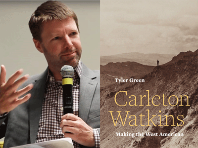 Tyler Green author photo and Carleton Watkins cover image