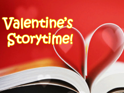 Valentine's Storytime with book heart