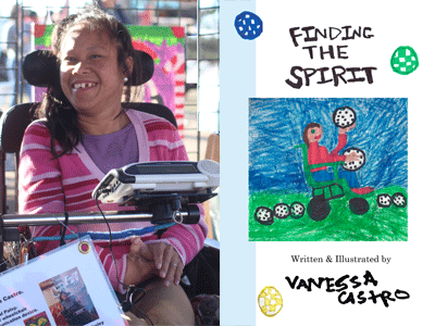 Vanessa Castro author photo and Finding the Spirit cover image