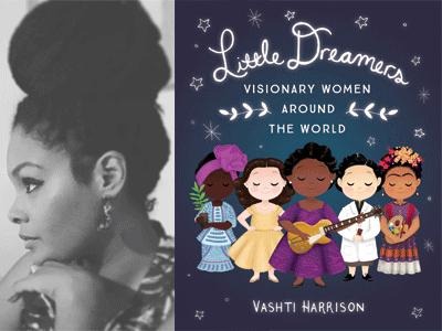 Vashti Harrison author photo and Little Dreamers cover image