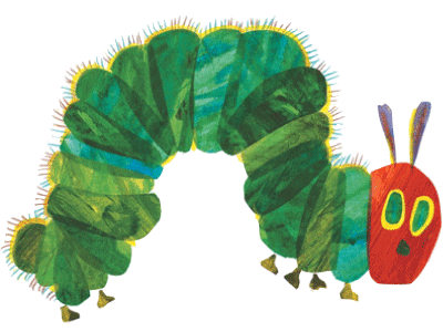 Very Hungry Caterpillar illustration by Eric Carle