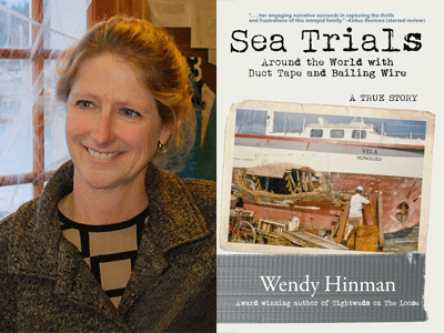 Wendy Hinman author photo and Sea Trials cover image