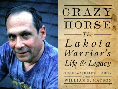 William Matson author photo and Crazy Horse cover image