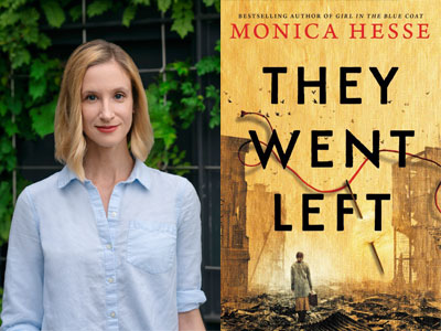 Monica Hesse author photo and They Went Left cover image