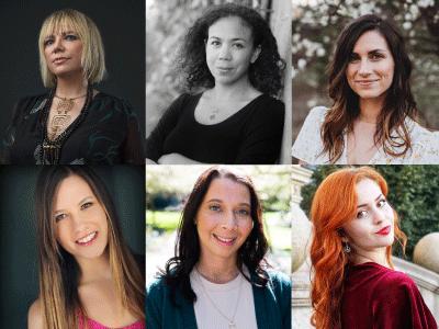 Author photos Kim Ligget, Stephanie Kuehn, Adrienne, Young, Alexis Bass, Francesca Floers, Sasha Alsberg