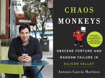 Antonio Garcia Martinez at Books Inc. in Mountain View