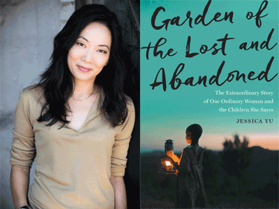Jessica Yu author photo and Garden of the Lost and Abandoned cover image